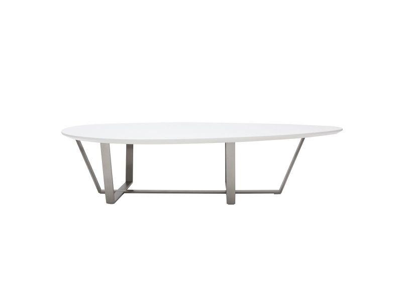 Table Basse Design Blanche Milla Vente De Table Basse Conforama