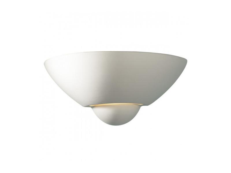 Applique murale vector blanc et céramique 1 ampoule