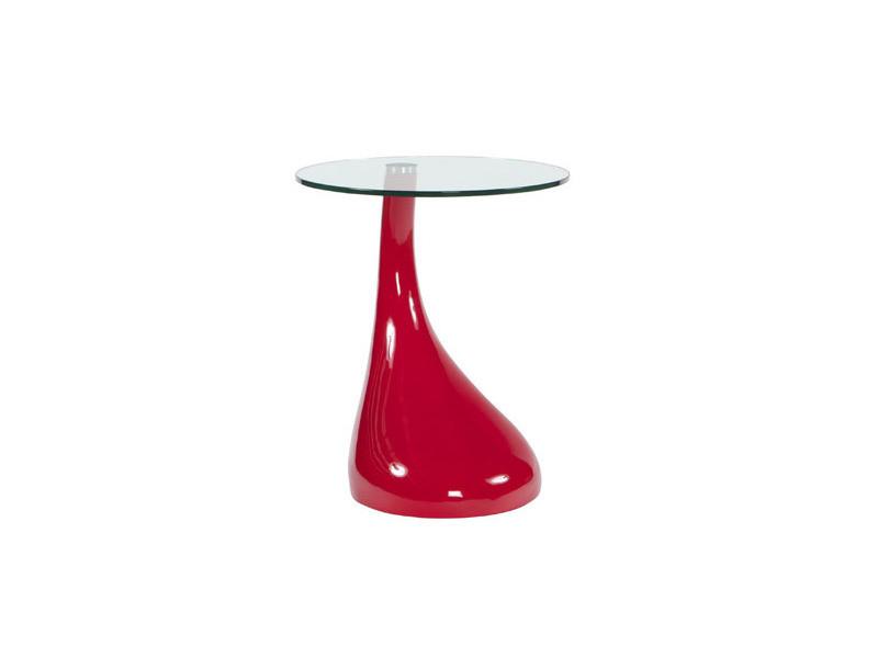 Table basse design 45x45x54 cm rouge - teo