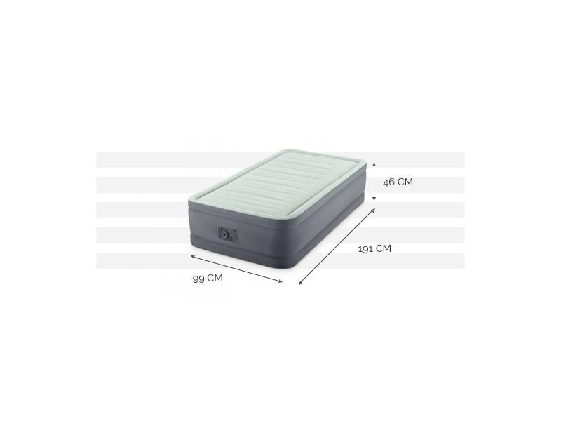 lit gonflable lectrique 1 personne intex premaire i fiber. Black Bedroom Furniture Sets. Home Design Ideas