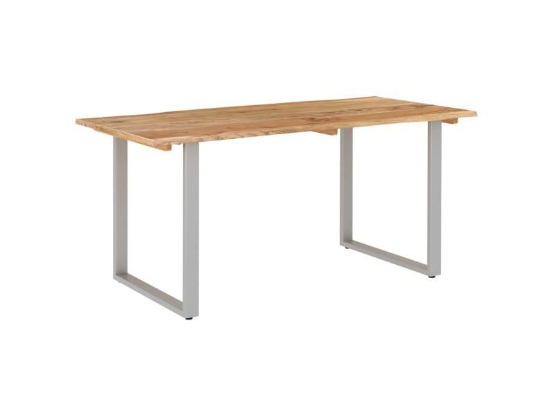 Vidaxl table de salle à manger 160x80x76 cm bois d'acacia solide 286477