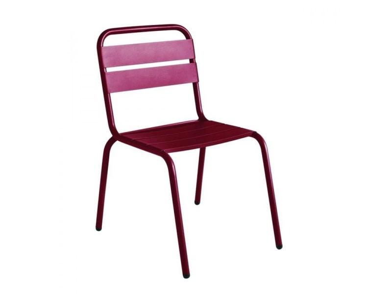 Chaise de jardin métal design visalia - couleur - bordeaux ...