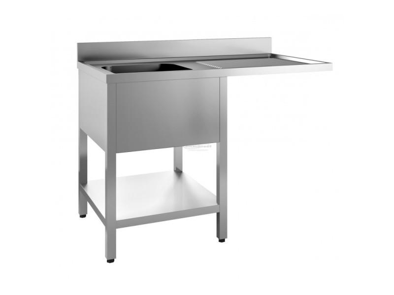 Plonge inox - emplacement lave-vaisselle - combisteel - 600x500x300 1400x700
