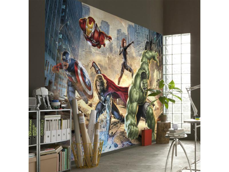 Papier Peint Enfant Avengers Street Rage Marvel Vente De Chambre