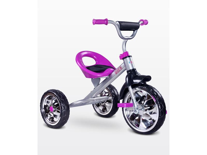 Lork - tricycle bébé enfant - dès 3 ans - cadre en acier - 3 roues en mousse - jusqu'à 25 kg - pédales anti-dérapantes - - violet