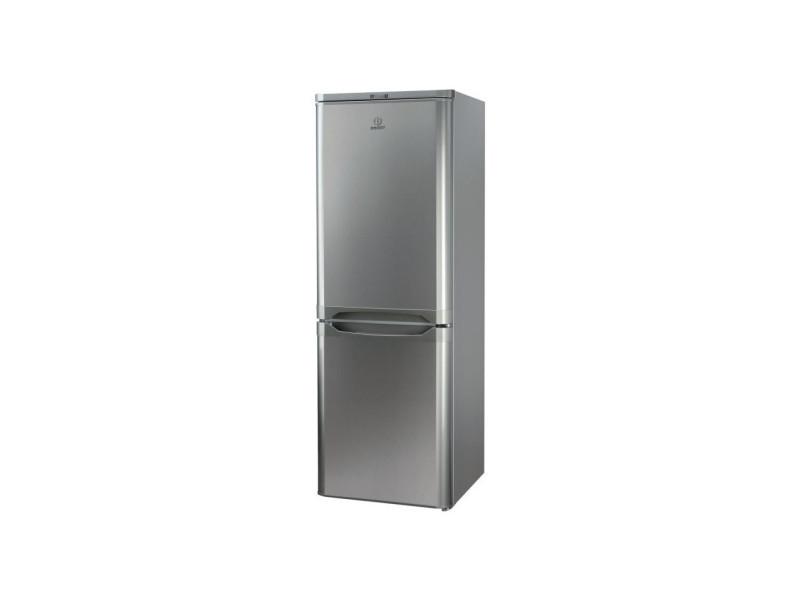 Indesit ncaa 55 nx - refrigerateur congelateur bas - 217l 150+67 - froid statique - a+ - l 55cm x h 157cm - inox INDENCAA55NX