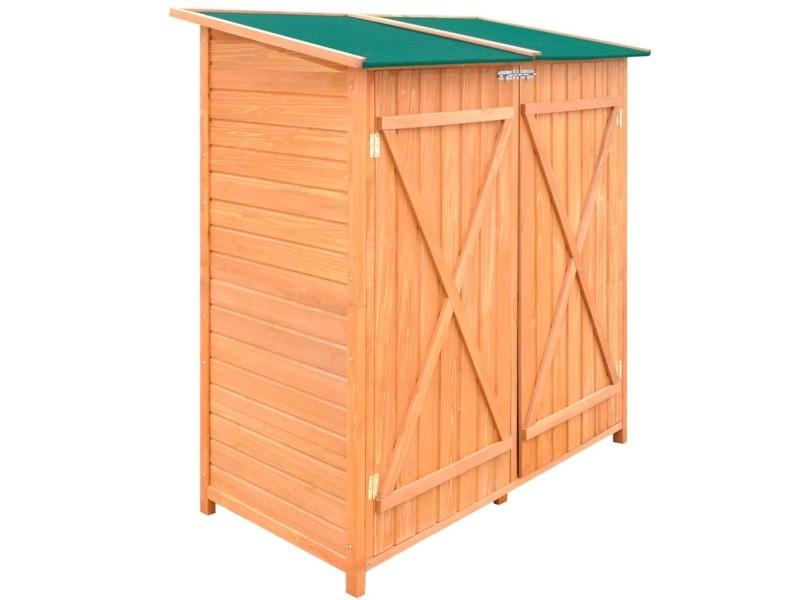 Vidaxl abri de jardin de stockage d'outils de jardin bois grand 170168