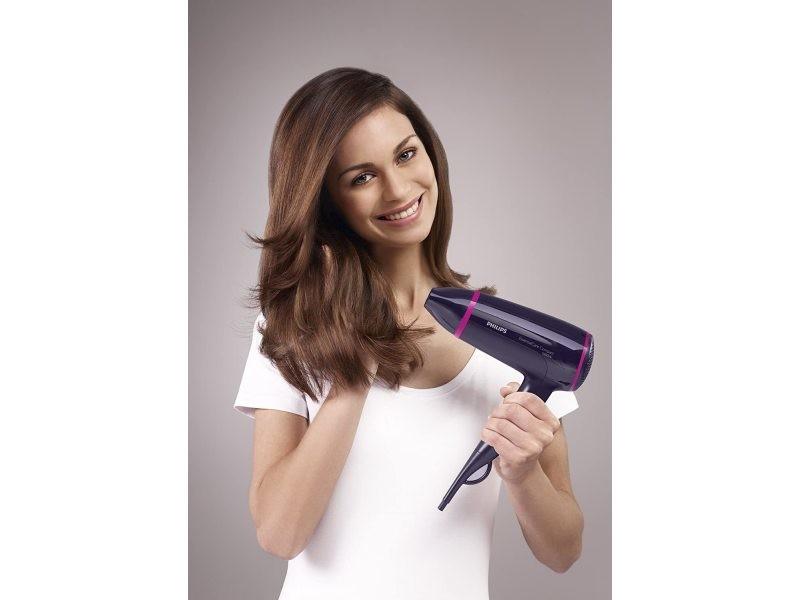 Sèche cheveux compact essential 1600w rose noir