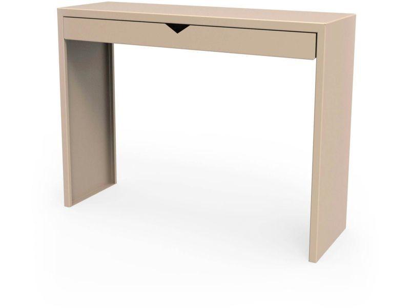 Console spirix beige sable hauteur 90 cm Csl_SPX_tir_h90_Sab
