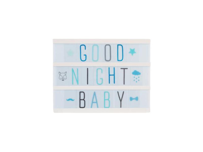 bo te led lumineuse messages a5 bleu vente de atmosphera for kids conforama. Black Bedroom Furniture Sets. Home Design Ideas