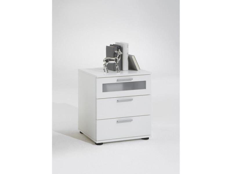 fmd table de chevet avec 3 tiroirs blanc 428734  vente de