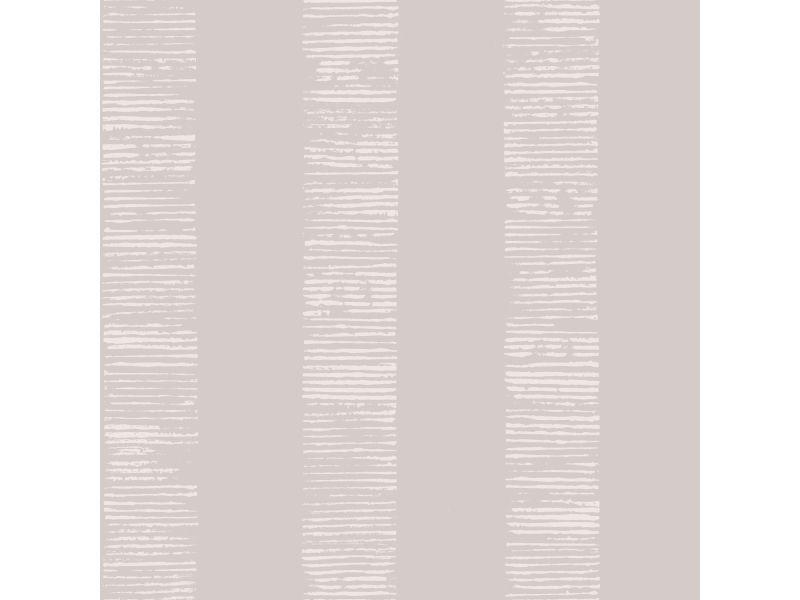 Papier peint intissé mara rayures métallique 1005 x 52cm ecru 104267
