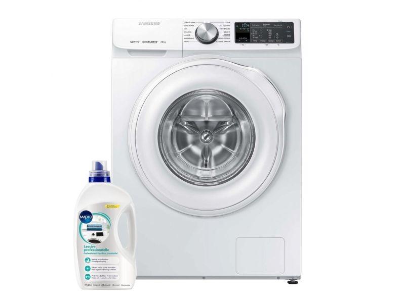 Lave-linge frontal 8kg a+++ 1400trs/min tambour 55l ecobubble machine à laver hublot