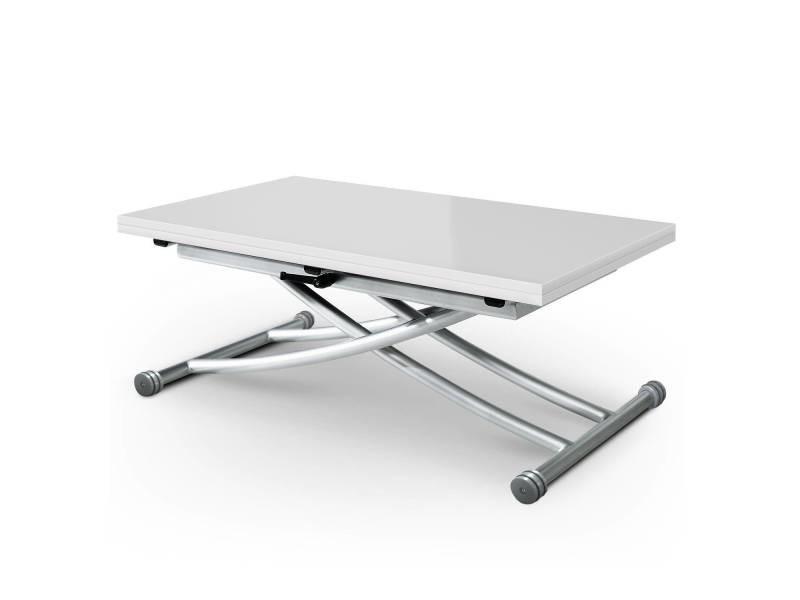 Table Basse Relevable Carrera Blanc Laque Vente De
