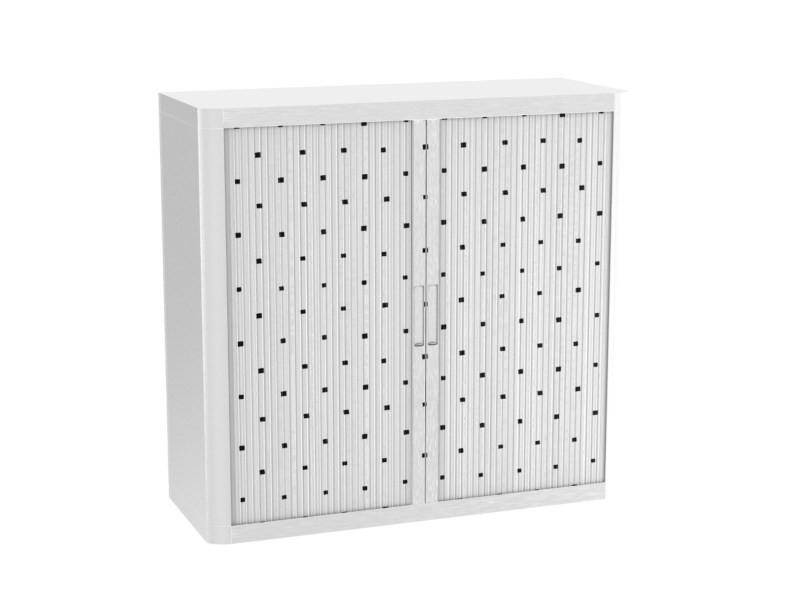Armoire de bureau métalique porte coulissante h 1m - carrés
