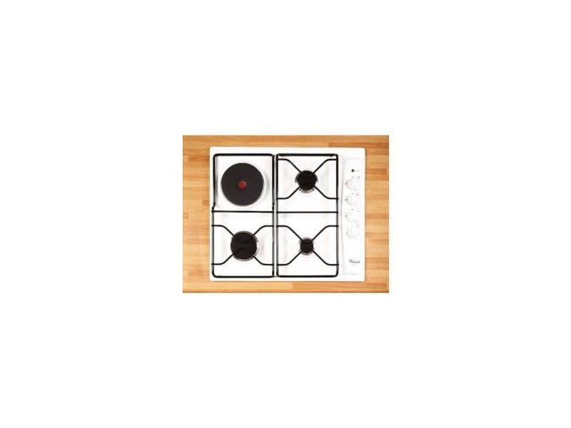 Whirlpool akm261wh plaque mixte - 4 foyers - blanc - sécurité gaz - 59 cm
