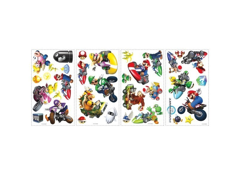 34 stickers mario kart nintendo - Vente de THE DECO FACTORY