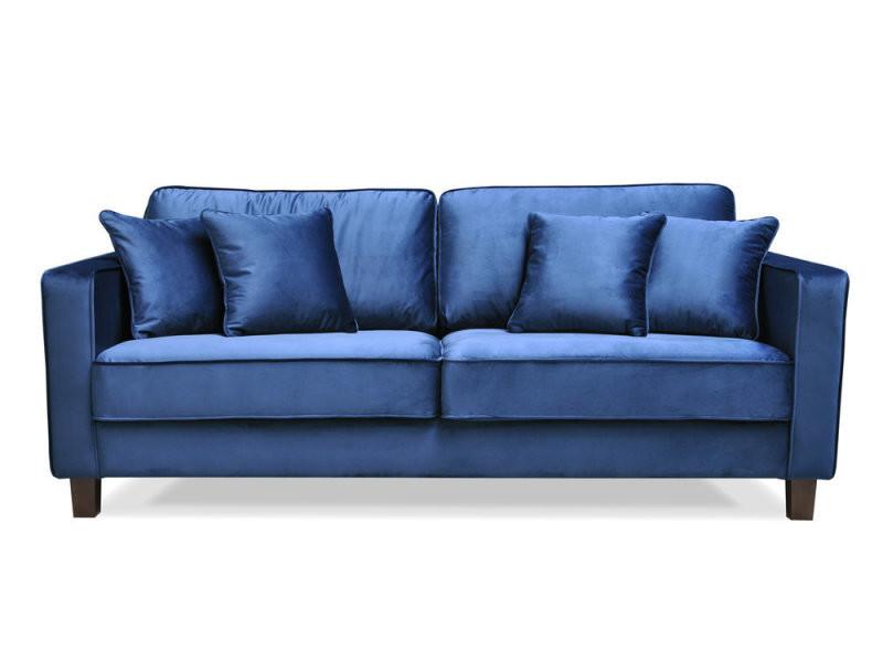 Vente En 3 Velours Places Coussins Fixe Bleu Avec Canapé Gatsby 4 FJ1c3TlKu