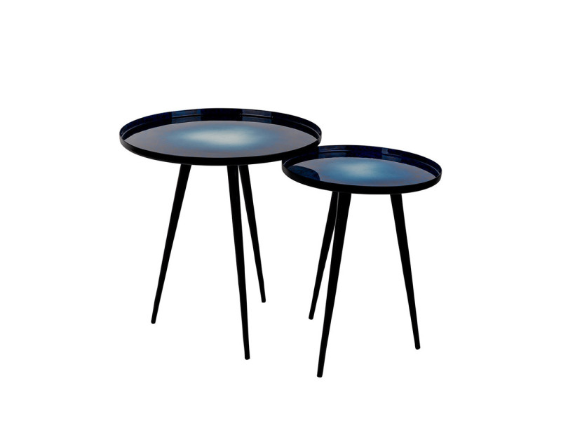 Lot de 2 tables d 39 appoint design flow zuiver couleur - Conforama table d appoint ...