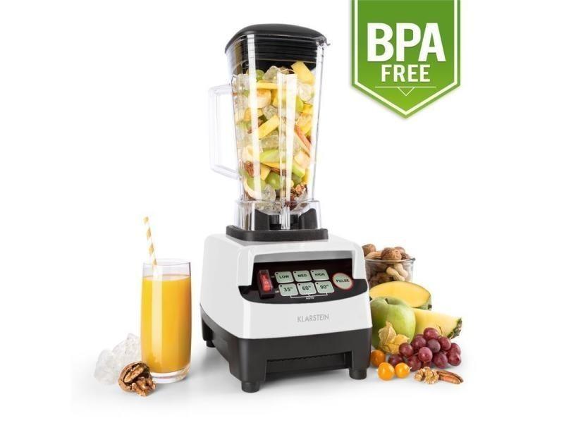 blanc Klarstein Herakles 2G-W 1200W Blender pour smoothie Mixeur blender sans BPA