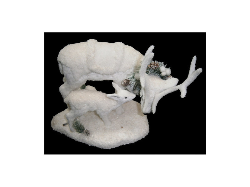 Figurine en forme de rennes - blanc