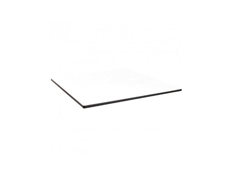 Plateau de table carré compact d'extérieur blanc 600 mm compact exterior