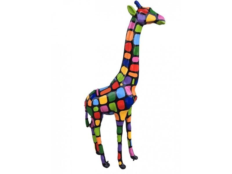 statue sculpture girafe resine design smarties 2 metres neuf conforama. Black Bedroom Furniture Sets. Home Design Ideas