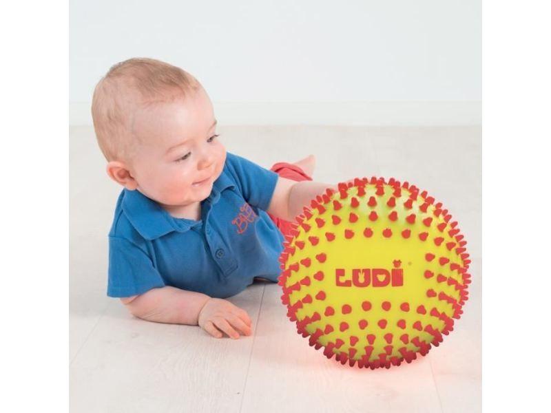 Balle - boule - ballon balle sensorielle bicolore - diametre 15 cm