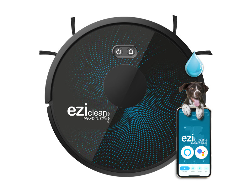 Robot aspirateur laveur connecté eziclean® aqua connect x850