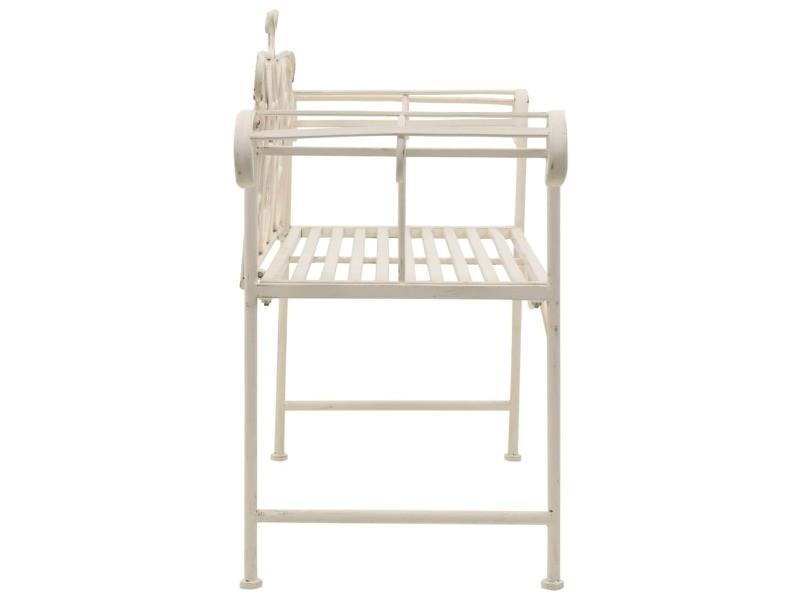 Vidaxl banc de jardin 132 cm métal antique blanc 45430 - Vente de ...