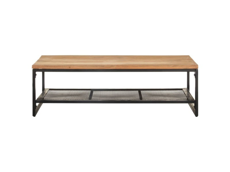 Vidaxl table basse 110x60x35 cm bois d'acacia massif 320246