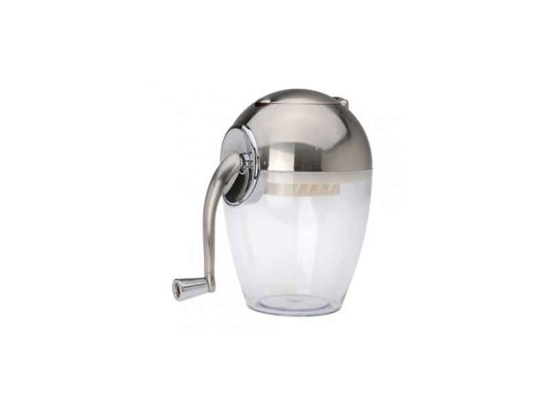 Broyeur à glace manuel acier brossé et acrylique
