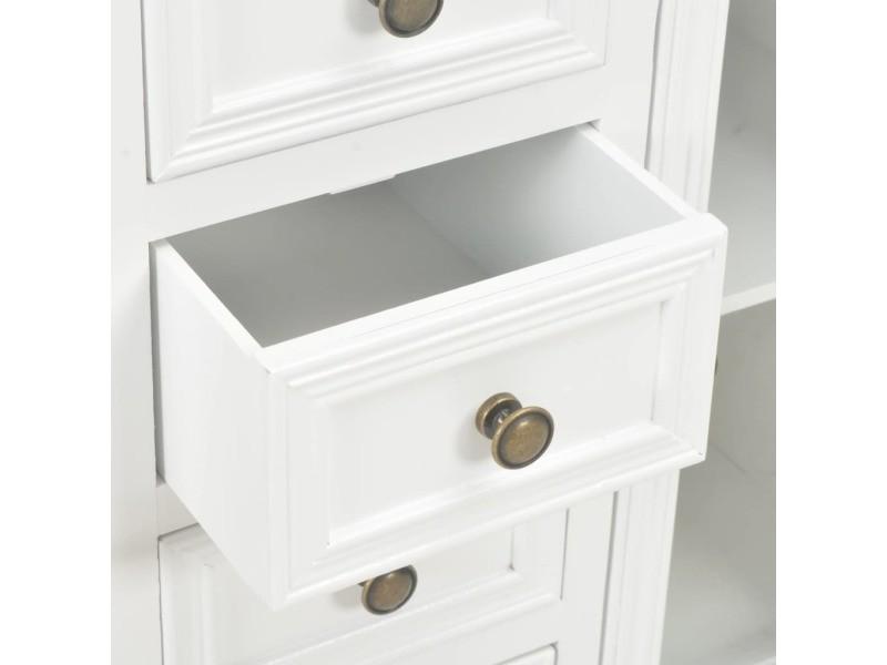 Vidaxl buffet blanc 70 x 28 x 70 cm bois de pin massif 280027