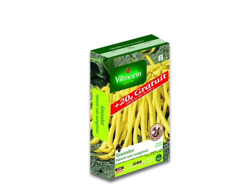 Graines de haricot nain beurre goussdor +20g gratuit