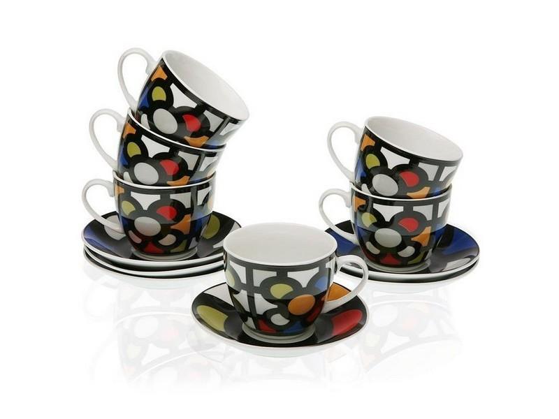 Tasses et thermos stylé ensemble de tasses à café porcelaine (6 pièces)