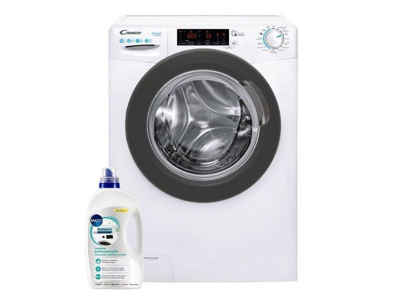 Lave-linge frontal 10kg 1400trs/min tambour 66l wi-fi machine à laver hublot