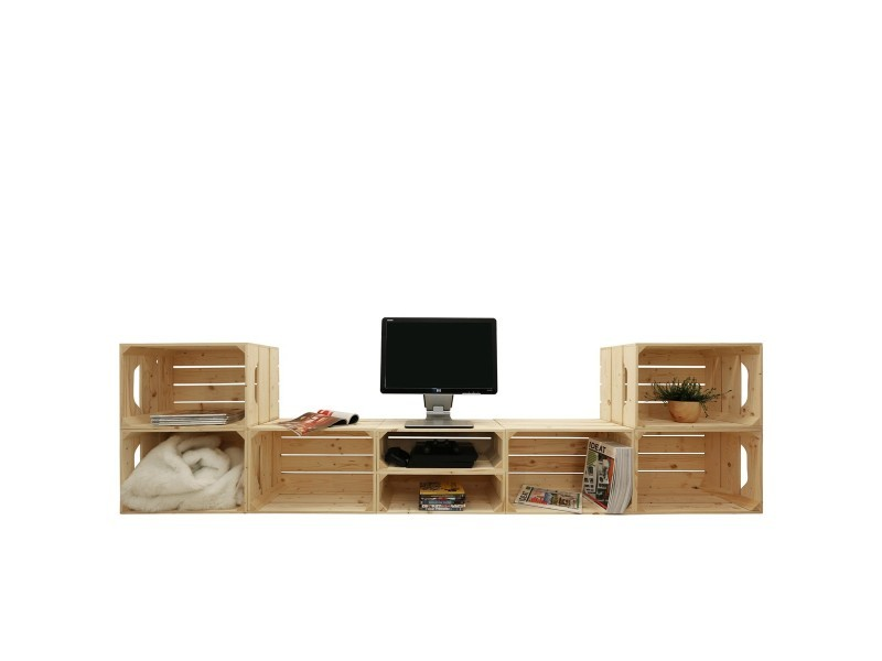 meuble tv modulable 8 niches de rangement vente de meuble tv conforama. Black Bedroom Furniture Sets. Home Design Ideas