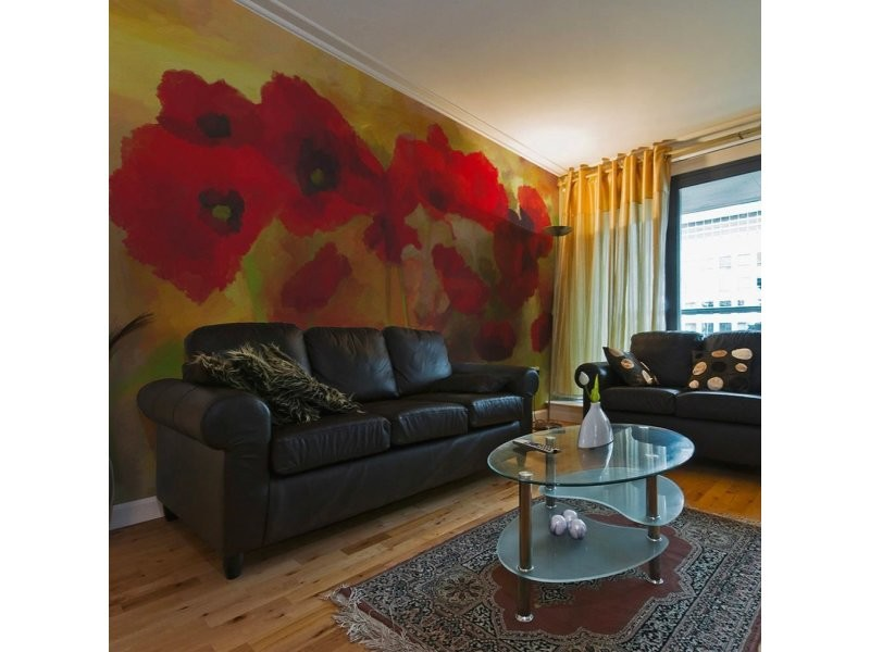 Papier peint poppies in warm tone A1-F4TNT0054-P