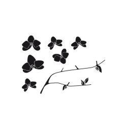 Sticker zen croquis - 50 x 70 cm - branche