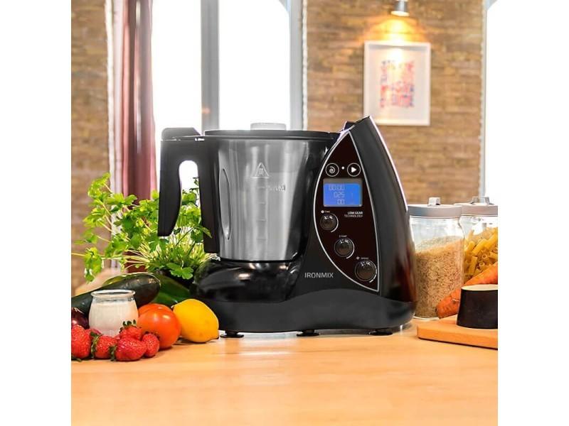 Robot de cuisine multifonctions de 3,3l avec écran lcd gris noir