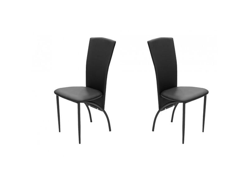 chaises noires conforama simple chaises noires conforama with chaises noires conforama lot de. Black Bedroom Furniture Sets. Home Design Ideas