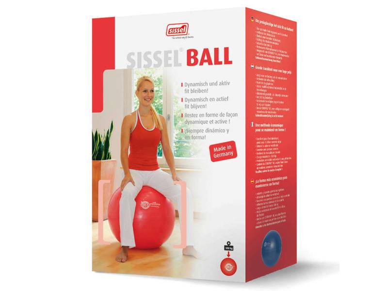 Sissel ballon d'exercice 65 cm rouge sis-160.062 419268