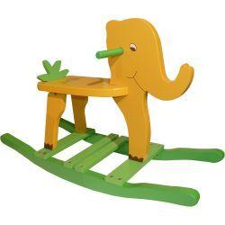 Elephant à bascule pour enfant jungle
