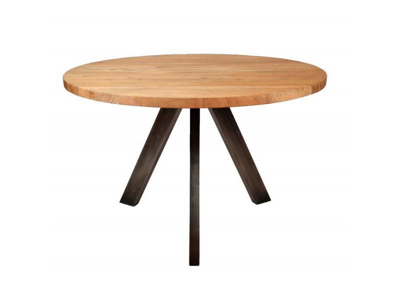 Liza - table repas ronde en bois l120