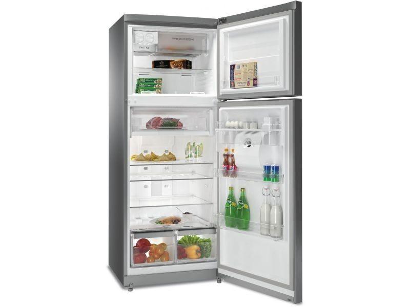 whirlpool refrigerateur frigo double porte inox 418l a. Black Bedroom Furniture Sets. Home Design Ideas