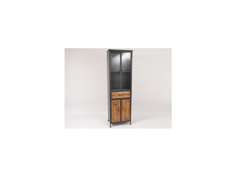 Armoire vintage bois et métal columbus