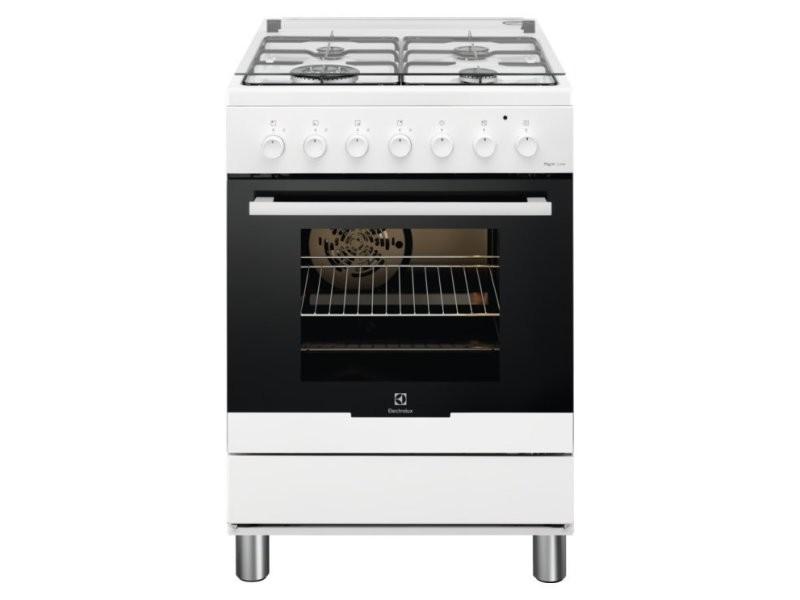 Cuisinière electrolux rkk61380ow blanc 60x60 4 foyers gaz, four électrique RKK61380ow