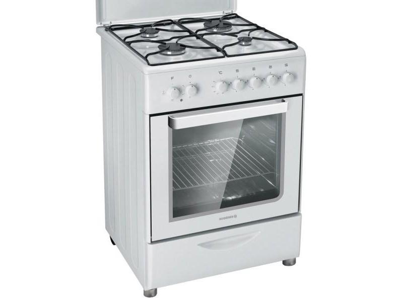 Cuisinière gaz 52l 4 feux blanc - rgc6111rb rgc6111rb - Vente de ...