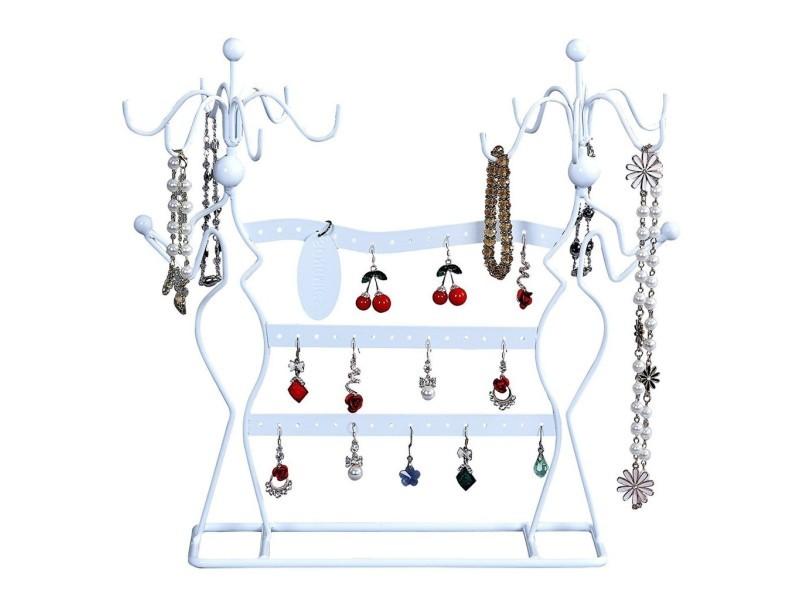 Boucles d/'oreilles en métal et métal Bracelet Collier Porte-bijoux