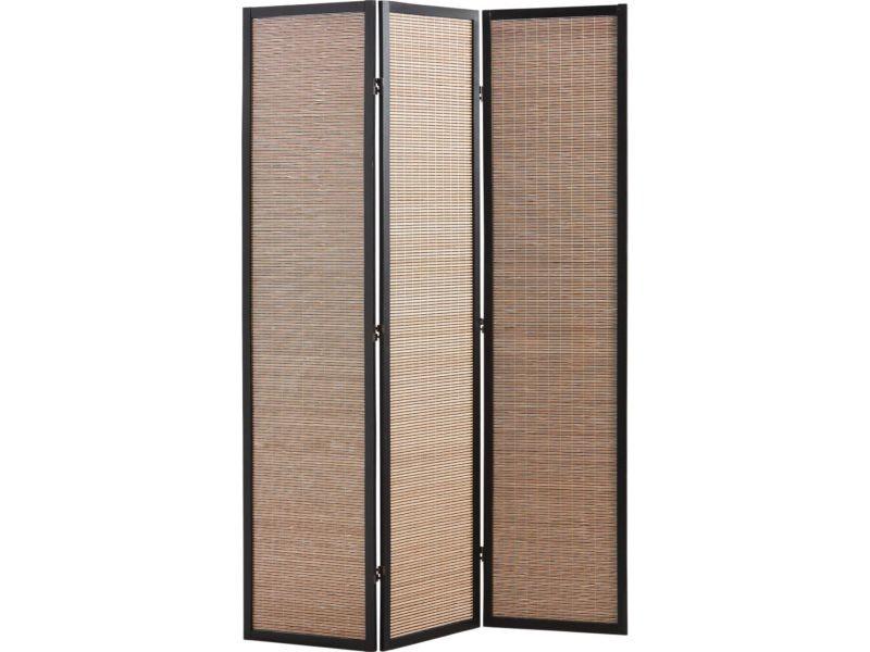 paravent en bambou et bois vente de aubry gaspard conforama. Black Bedroom Furniture Sets. Home Design Ideas